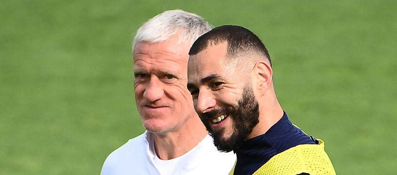 Karim Benzema a le sourire, jeudi à Clairefontaine. Les comptables de la FFF aussi.