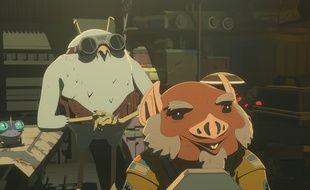 Flix et Orka dans la série animée «Star Wars Resistance».