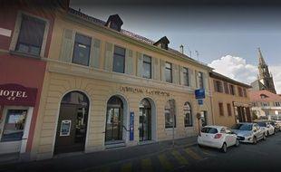 La banque populaire de Thann, où travaille Agathe Pfrimmer.