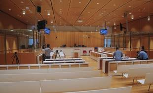 La salle d'audience où se déroule le procès des attentats depuis le 2 septembre.