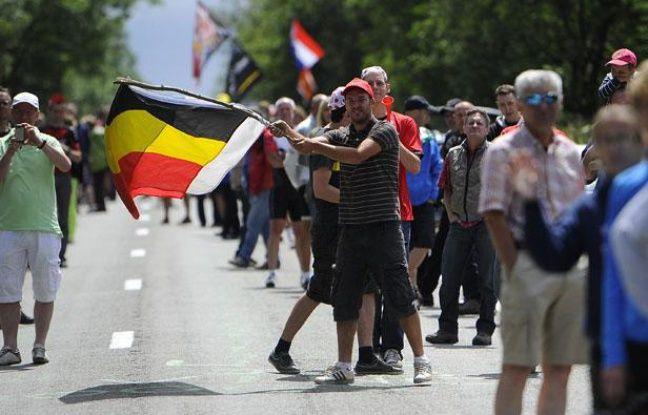 Le public belge sur l'étape du Tour de France entre Liège et Seraing le 1er juillet 2012.