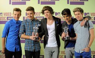 Le groupe One Direction en 2012.