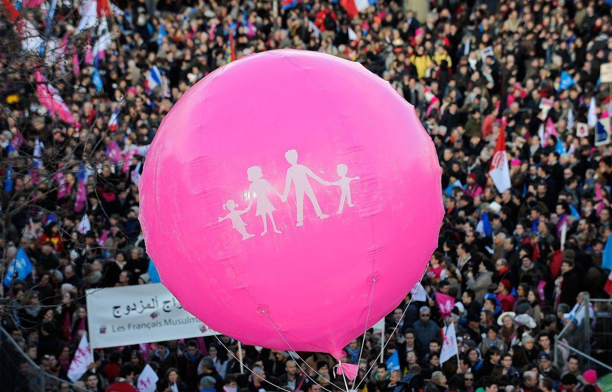 """Un rassemblement de la """"Manif pour tous"""" à Paris le 2 février 2014 à Paris. – MEUNIER AURELIEN/SIPA"""