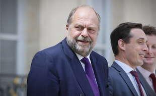 Le ministre de Justice Eric Dupond-Moretti, photographié le 7 juillet 2021 à la sortie de l'Elysée.