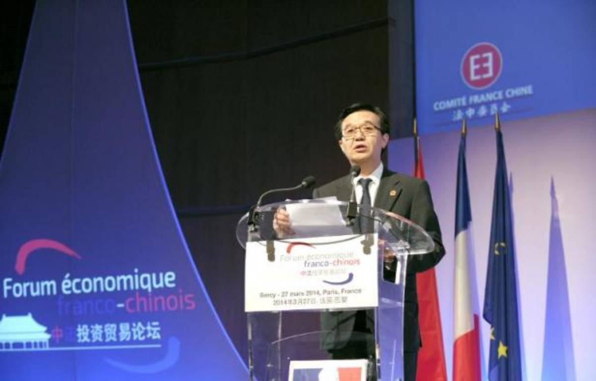 Le ministre chinois du Commerce Gao Hucheng s'exprime à l'ouverture du forum économique franco-chinois au ministère des Finances à Paris, le 27 mars 2014 – Eric Piermont AFP