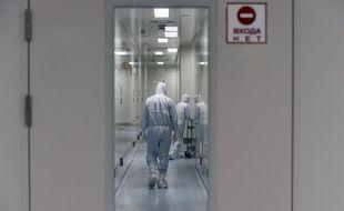 Les couloirs l'entreprise de biotech BIOCAD, en Russie, en mai dernier.