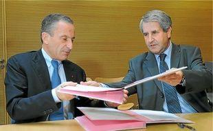 H. Proglio et P. Richert ont signé, hier, une convention sur le développement.