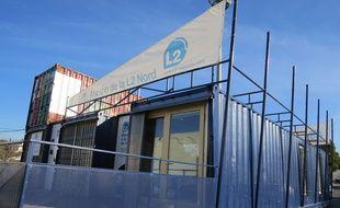 Marseille, le 11 fevrier 2015, la maison de l'emploi de la rocade L2.