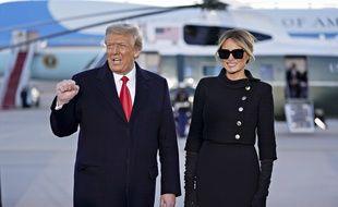 Donald et Melania Trump à la base Andrews le 20 janvier 2021.