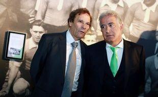 Roland Romeyer et Bernard Caïazzo, les deux actionnaires majoritaires de l'AS Saint-Etienne, le 20 décembre 2013.