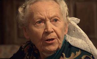 La bigoudène Marie-Louise Lopéré, ici dans la publicité Tipiak.