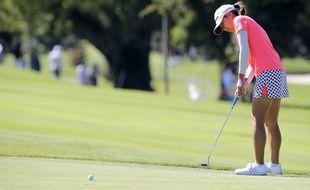 La golfeuse japonaise Mika Miyazato à l'Evian Championship, le 13 septembre 2013.