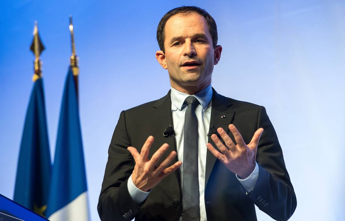 Le candidat à l'élection présidentielle Benoît Hamon – PHILIPPE HUGUEN / AFP