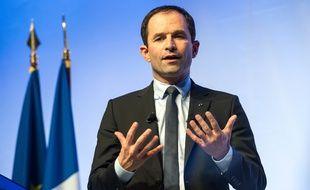 Le candidat à l'élection présidentielle Benoît Hamon