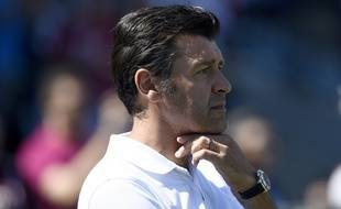 Hubert Fournier, l'entraîneur de Lyon, le 1er août 2015, à Montréal contre le PSG.