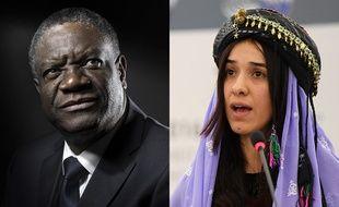 """Le médecin congolais Denis Mukwege et à la Yazidie Nadia Murad, ex-esclave du groupe Etat islamique, ont reçu le prix Nobel de la paix 2019, """"pour leurs efforts pour mettre fin à l'emploi des violences sexuelles en tant qu'arme de guerre""""."""