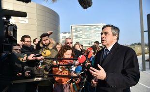 François Fillon sur le site de l'entreprise Thalès à Mérignac, le 25 janvier 2017