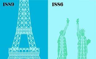L'auteur s'est amusé à comparer ses deux villes chéries à travers leurs clichés.