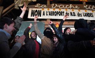 La joie sur la ZAD de Notre-Dame-des-Landes lors de l'annonce de l'abandon du projet le 17 janvier.