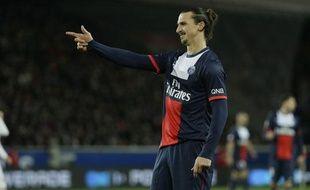 L'attaquant du PSGZlatan Ibrahimovic, le 22 décembre 2013 contre le Losc, au Parc des Princes.