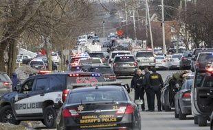 Une fusillade a fait au moins cinq morts à Aurora, près de Chicago, le 15 février 2019.