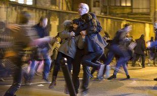 Un mouvement de panique à Paris après une fausse alerte, le 15 novembre 2015.