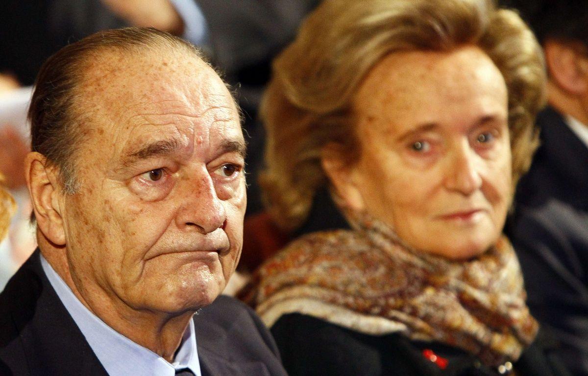 Jacques et Bernadette Chirac lors d'une cérémonie au musée du quai Branly, en novembre 2011. –  Francois Mori/AP/SIPA