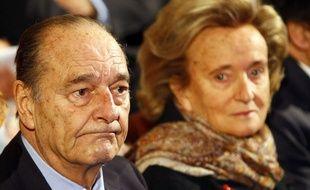 Jacques et Bernadette Chirac lors d'une cérémonie au musée du quai Branly, en novembre 2011.
