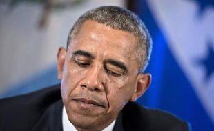 Le président américain Barack Obama à la Maison Blanche le 25 juillet 2014