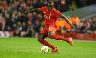 Mamadou Sakho lors de Liverpool-Manchester le 10 mars 2016.