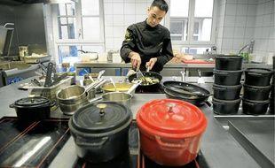 Dans les cuisines du Tire-Bouchon, l'un des 61 restos Maître restaurateur du Bas-Rhin, hier.