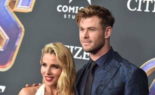 Les acteurs Elsa Pataky et Chris Hemsworth à Los Angeles.