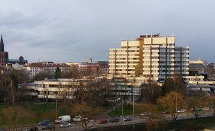 Strasbourg, centre administratif Eurométropole et ville de Strasbourg.