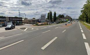 L'accident s'est passé route de Furnes, à Coudekerque Branche.