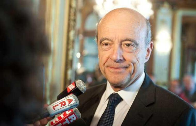 Alain Juppé à Bordeaux, le 12 juin 2012