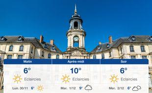 Météo Rennes: Prévisions du dimanche 29 novembre 2020