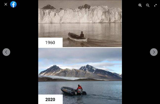 Ces photos ont en réalité été prises en 1918 et 2002.