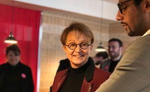 La maire de Rennes Nathalie Appéré, ici avec Yannick Nadesan, en février 2020.