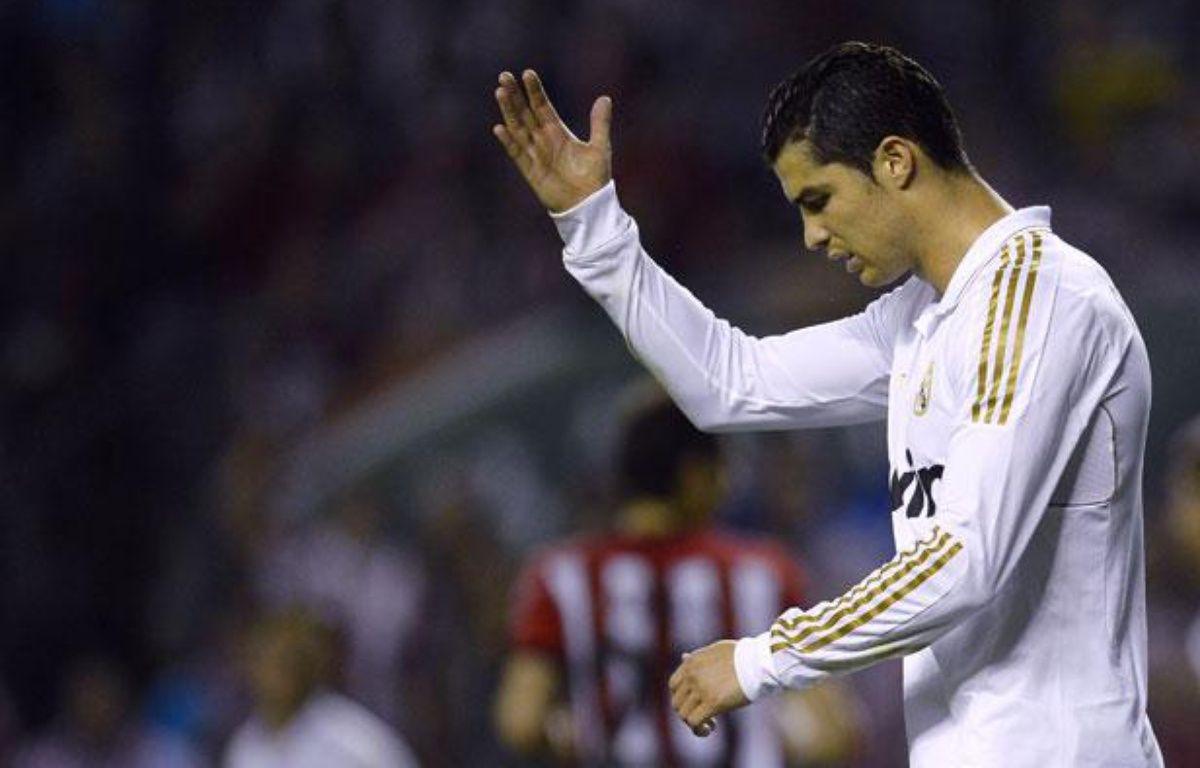 Crisitano Ronaldo, l'attaquant du Real Madrid, le 2 mai 2012, à Bilbao. – REUTERS/Felix Ausin Ordonez