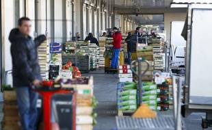 Toulouse, le 7 novembre 2012. Le marché des grossistes des fruits et légumes communément appelé le Marché d'Intérêt National.