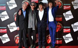 Les Rolling Stones, Charlie Watts, Keith Richards, Ronnie Wood et Mick Jagger