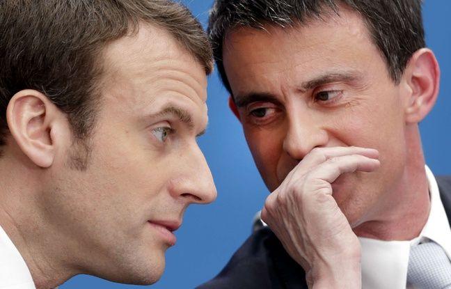 Emmanuel Macron et Manuel Valls le 8 avril 2015.