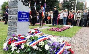 La ville de Marcq-en-Barœul a inauguré le square Arnaud Beltrame, du nom du gendarme tué lors d'une prise d'otages en mars 2018, dans l'Aude.