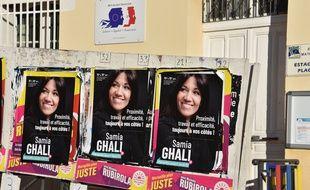 Des affiches de Samia Ghali, candidate aux municipales 2020 à Marseille