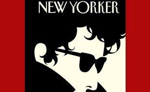 Détail de la Une du «New Yorker» du 24 octobre 2016. «The Laureate» («Le Lauréat»), par Malika Favre.
