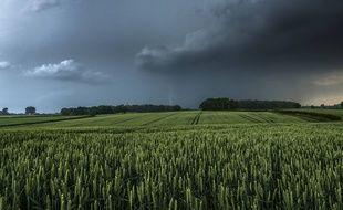 Un ciel menaçant avant un orage.