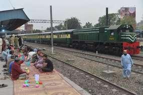 Un train de la Pakistan Railways (illustration)