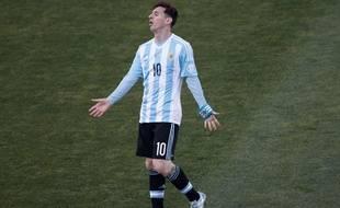 Lionel Messi lors de la finale de Copa America perdue avec l'Argentine contre le Chili, le 4 juillet 2015.