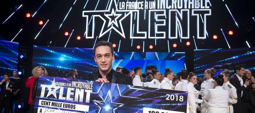 Jean-Baptiste Guégan, vainqueur de la saison 13 de «La France a un incroyable talent», le 18 décembre 2018.