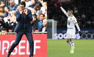 Unai Emery et Hatem Ben Arfa vont se retrouver lors de Rennes-Arsenal en Ligue Europa, le 7 mars 2019.